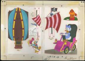 DONALD DUCK PIRATE SHIP PUNCH-OUT/STANDEE ORIGINAL ART