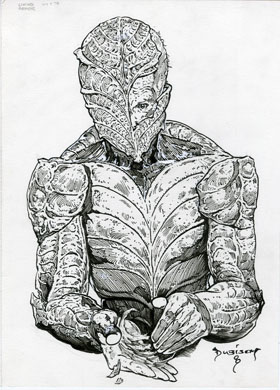 MIKE DUBISCH - LIVING ARMOR ILLUSTRATION ORIGINAL ART