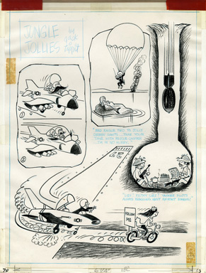 JACK TIPPIT - JUNGLE JOLLIES CARTOON ORIG ART MERMAID