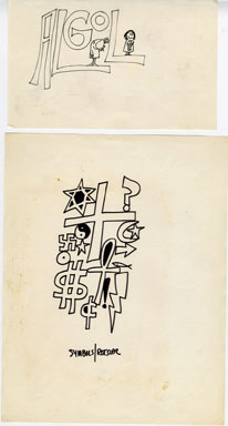WILLIAM ROTSLER - CARTOON SKETCHES ORIG ART ALGOL