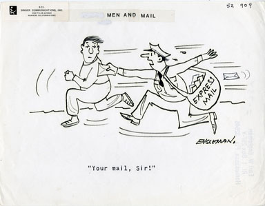 EARL ENGLEMAN - EXPRESS MAIL GAG PANEL ORIGINAL ART