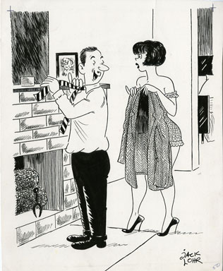 JACK LOHR - LAUGH DIGEST GAG CARTOON ORIGINAL ART 1962